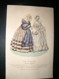 Le Follet C1840's Hand Coloured Fashion Print 825